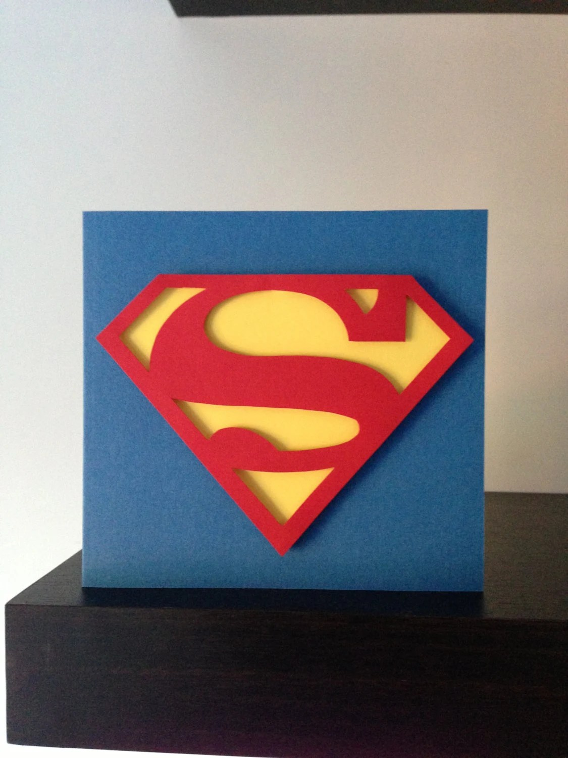 Superman Inspired Handmade Card