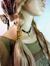 Leather Hair Braid Ins Wrap Tie Ponytail Holder Hair Jewelry