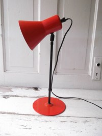 Red Industrial Desk Lamp with Swivel Head by ...