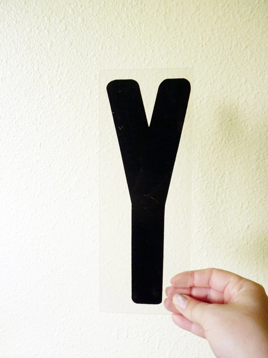 Vintage Plastic Black & Clear Marquee Letter - Letter Y - TheEpochYeti