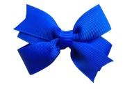 3 blue hair bow royal