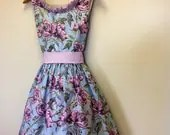 Summer Rose Garden Custom Tea Dress made to order - HunnahLea
