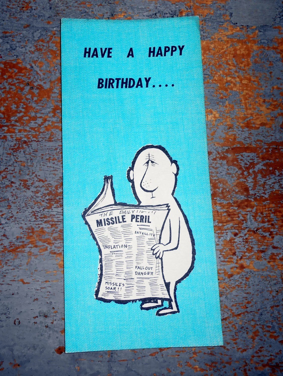 Vintage Cards Birthday Card Hallmark Greeting Card Funny