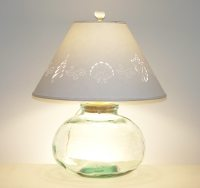 Large Fillable Lamp with Seashell Lampshade