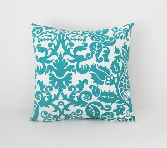 Teal Pillow Covers Throw Pillows Decorative Pillow Cover size