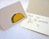 Taco hand drawn blank card - burymeinleaves