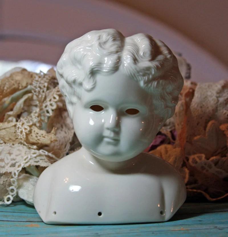 Porcelain Doll Head Large