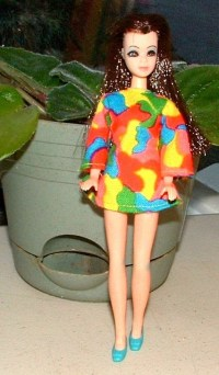 Vintage 1970 Dawn Doll Clothes SOCK IT to ME Dress 0612
