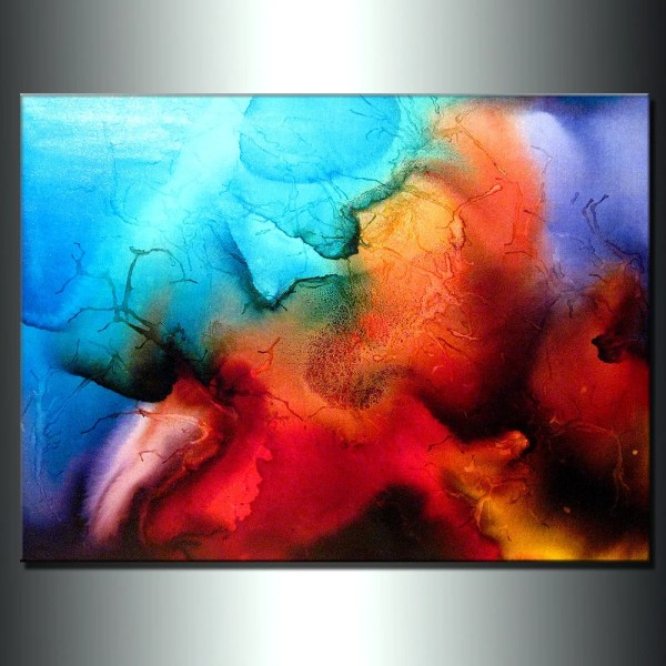 Original Abstract Painting Contemporary Modern Colorful Canvas