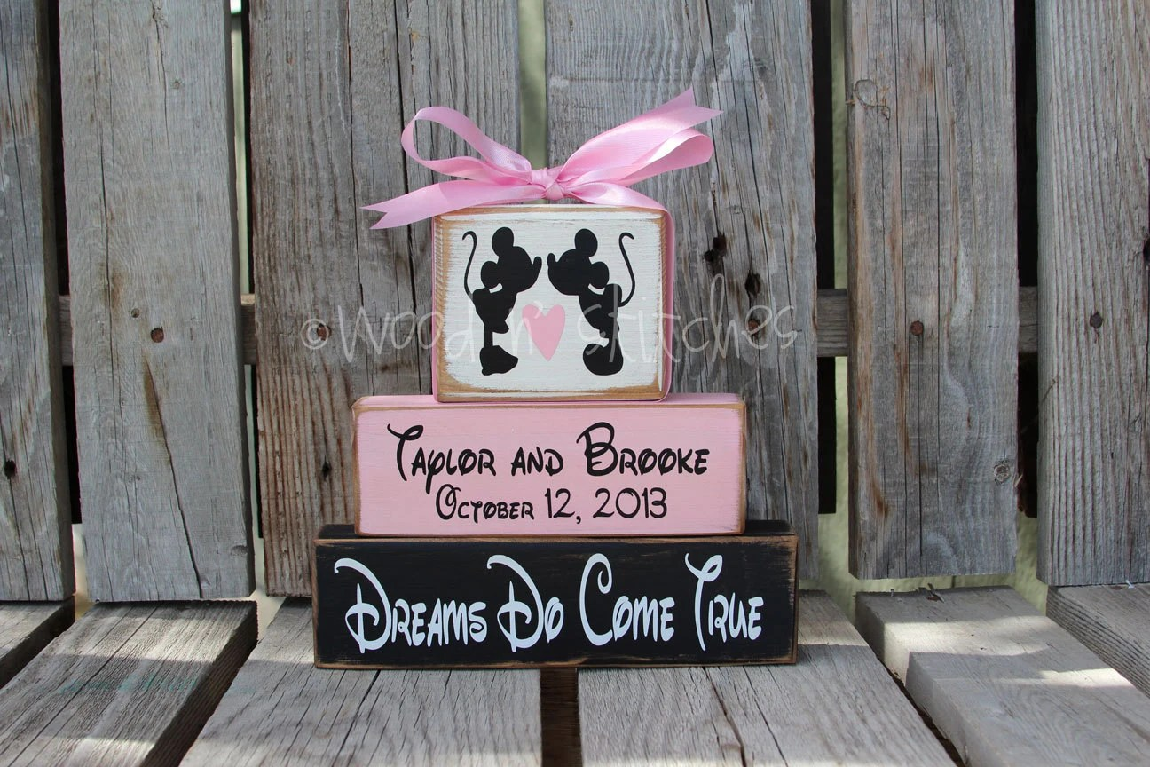 Mickey Mouse DISNEY Wedding Family Happily Ever After Name