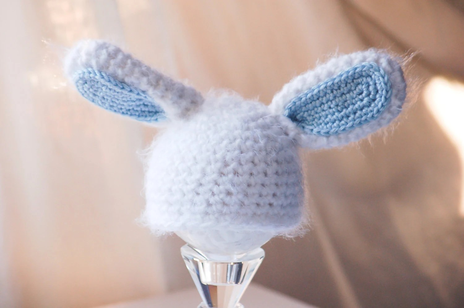 Newborn Photo Prop - Easter Bunny Hat - Photography Prop - Baby Bunny Hat - Rabbit Ears - Easter Prop - Baby Picture Prop - SquishyCouture
