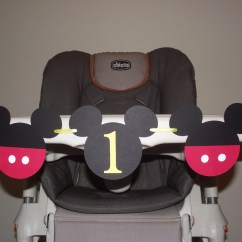 Mickey Mouse High Chair Decorations Influx Posture Birthday Banner I Am 1 By