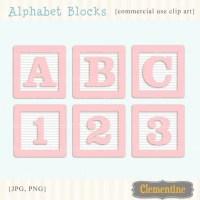 Pink alphabet blocks clip art images baby blocks clip art