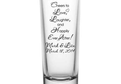 Personalized Tall Shot Glasses For Wedding Favors