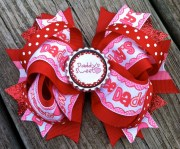 valentine's day hair bow boutique