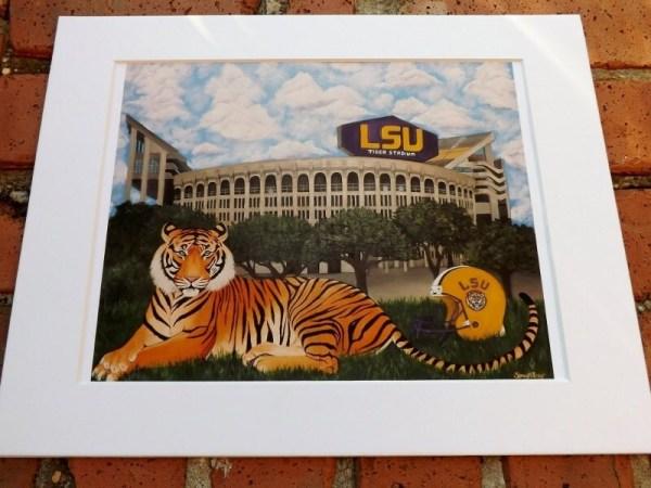 Christmas Sale REDUCED PRICE LSU Tiger Stadium PrintWhite