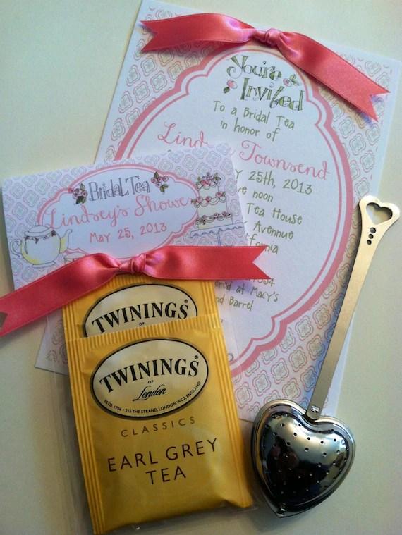 Bridal Shower Birthday Bridal Tea Bag Topper Favors with