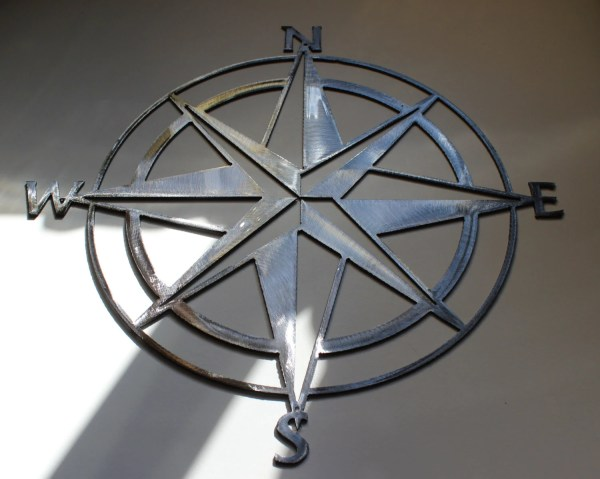 Nautical Compass Rose Wall Art Metal Decor