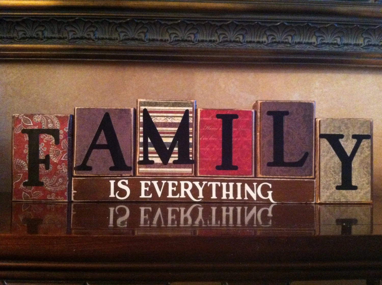Family Block Letters Etsy
