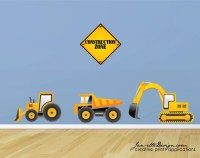 Truck Wall Decals Construction Truck Wall Stickers