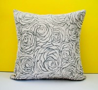 Grey off white decorative throw pillow cover accent pillow