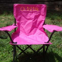 Monogrammed Toddler Chair Lift Chairs Dayton Ohio Pink For Kids