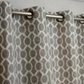 Storm gray white sydney geometric honeycomb curtains grommet 84 96