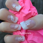 white nail art stickers decals
