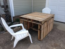 Patio Table Of Repurposed Pallets Givetake