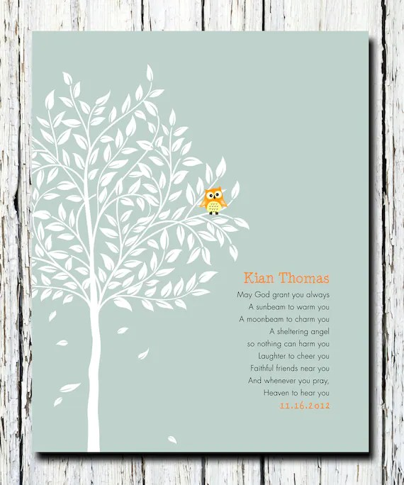Personalized Christening Tree Gift Bible Verse Gift For