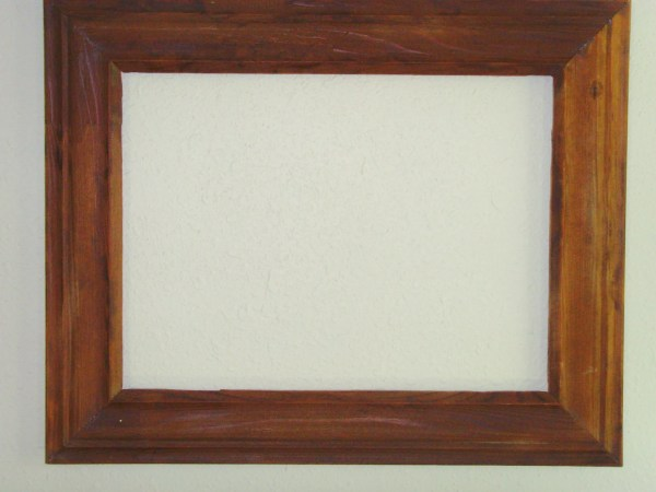 12x16 Crown Molding Frame Reclaimed Wood