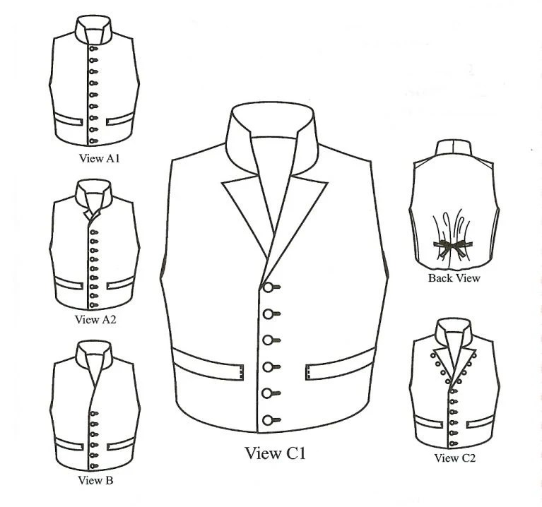 KK4202 1790 1850 Single-breasted Man's Waistcoats