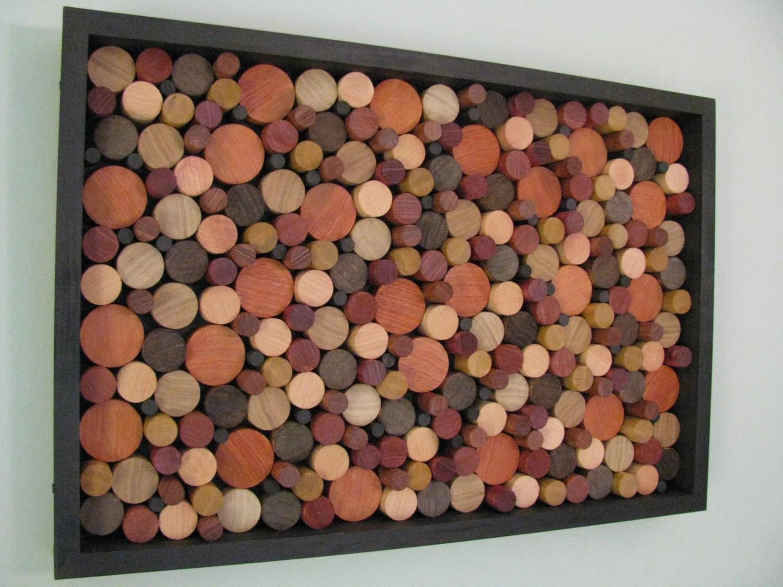 wood art WOODEN CIRCLES wood wall art wooden