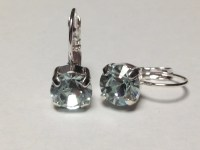 Swarovski drop earrings light azore pale blue by MISWINGS