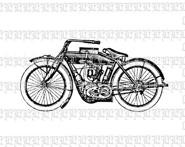 Motorcycle Vintage Clip Art Illustrations High Resolution