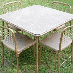 Card Table And Chairs Costco White Desk Vintage Cosco 1950s Metal By Pickerswarehouse