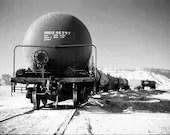 New Mexico Freight Train photo, Black and White, film, train, southwest -8.5 x 11 Photographic Print - DWKNYPHOTO