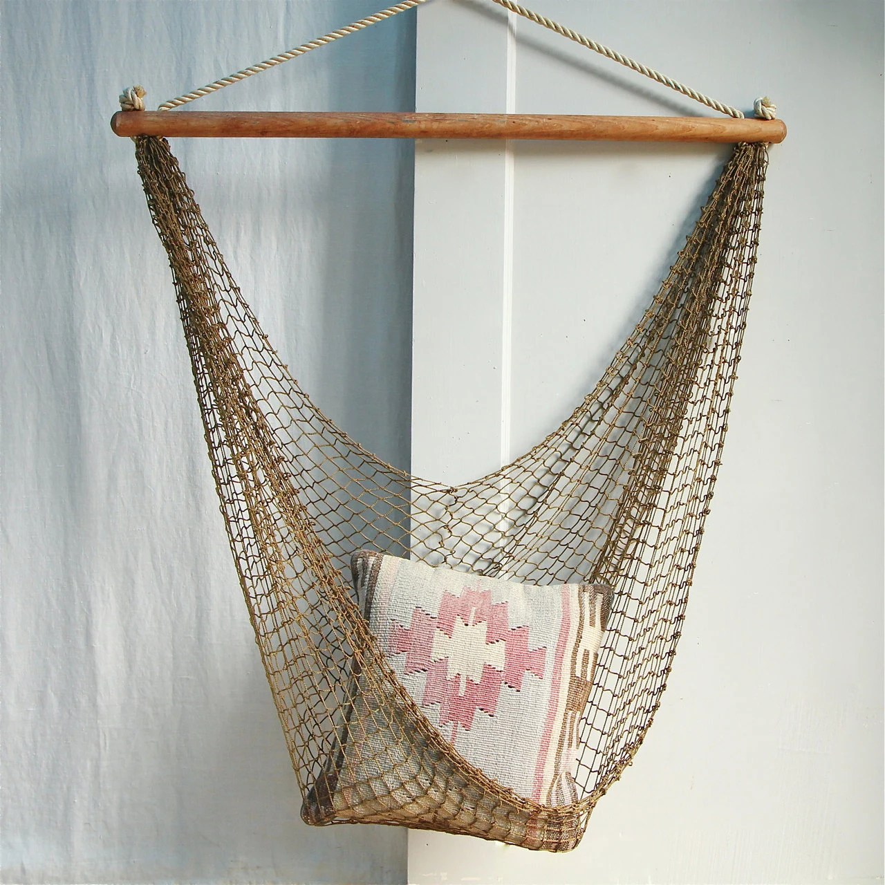 Vintage Hammock Chair  Fishnet Egg Chair Sling Chair