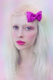 hot pink glitter bow party