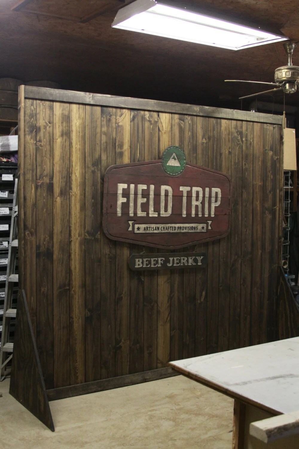 Trade Show Rustic custom portable wall display for shop or