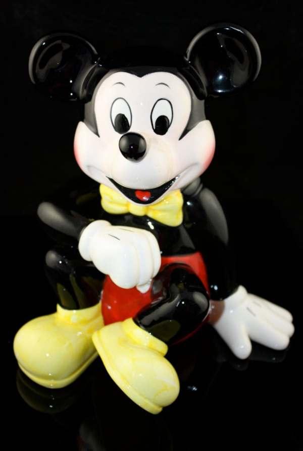 Vintage Mint Ceramic Mickey Mouse Piggy Bank