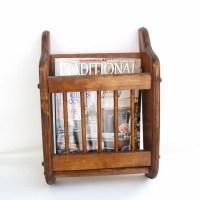 Wall Mounted Magazine Rack Wooden Magazine Holder Wall Pocket