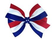 4 red white & blue hair bow