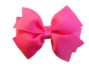 camelia rose hair bow pink