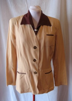 Vintage 1940s Ladies Two-Tone Jacket - M/L