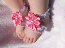 Pink Barefoot Baby Sandals Barefootsandals