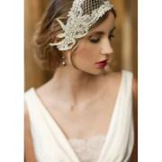 1920s wedding headpiece bridal