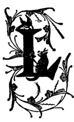 Monogram L Decorative Rubber Stamp WM