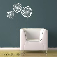 3 LARGE flowers Vinyl Wall Decal Design by ...