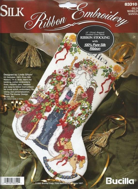 Bucilla Silk Ribbon Embroidery Old World By LogCabinMercantile